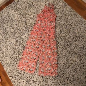 Jcrew new with tags pink floral jumpsuit